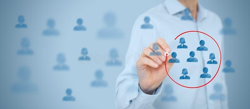 Marketing segmentation stock photography
