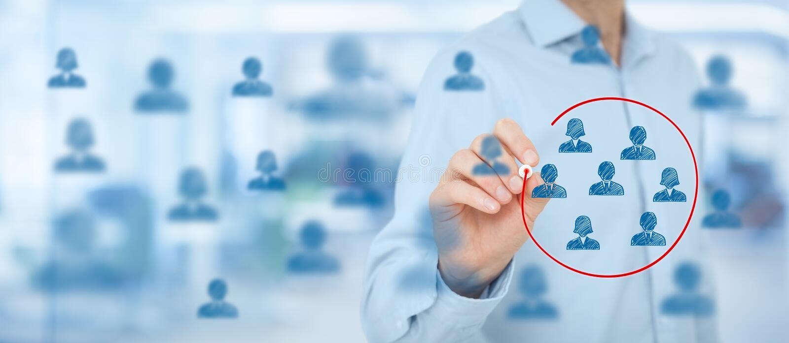 Marketing segmentation stock image