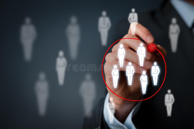 Marketing segmentation royalty free stock photo