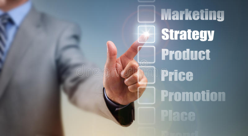 Marketing strategy stock photography