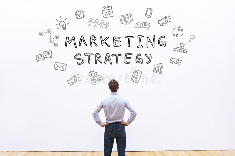 Marketing strategy. Concept, best sales royalty free stock image