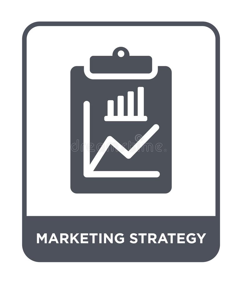 Free Marketing Strategy Icon In Trendy Design Style. Marketing Strategy Icon Isolated On White Background. Marketing Strategy Vector Stock Images - 135749234