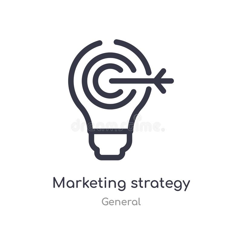 Marketing strategy outline icon. isolated line vector illustration from general collection. editable thin stroke marketing. Strategy icon on white background vector illustration