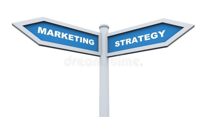 Marketing strategy roadsign royalty free illustration