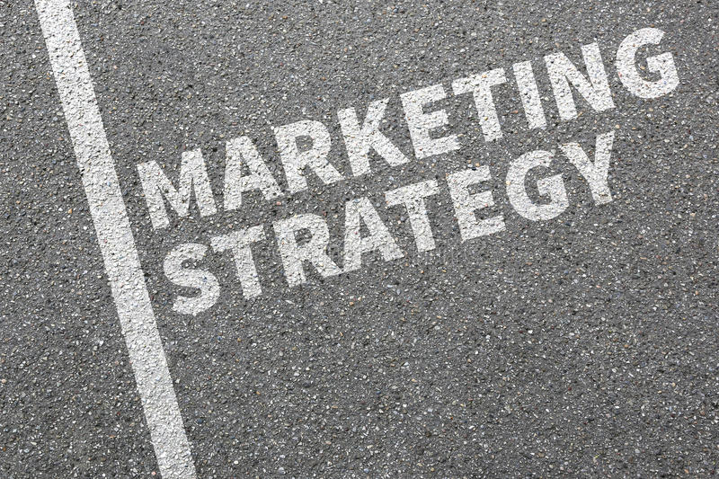 Marketing strategy sale sales advertisement company business con stock image