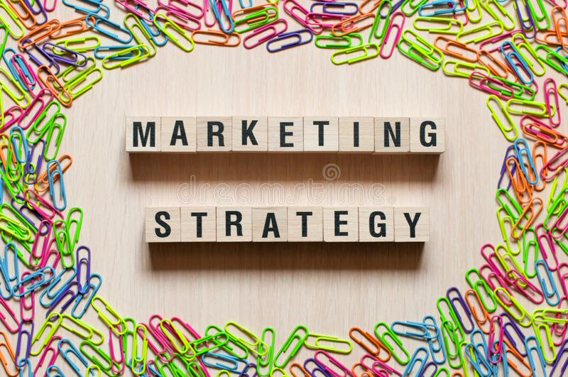 Marketing strategy words concept royalty free stock photography