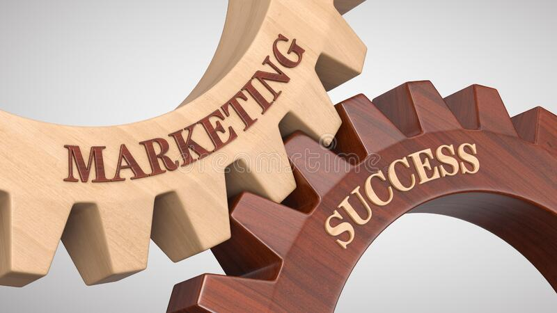 Marketing success concept stock photography