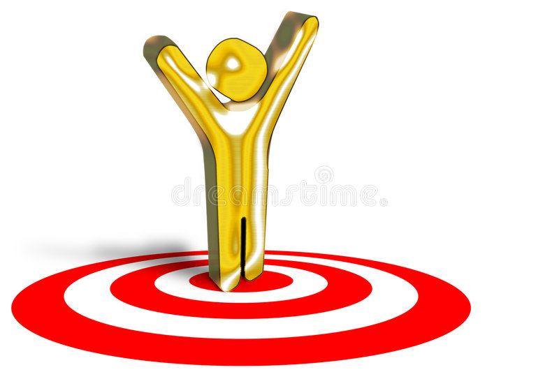 Marketing target winner. Concept at winning in business on target royalty free stock image