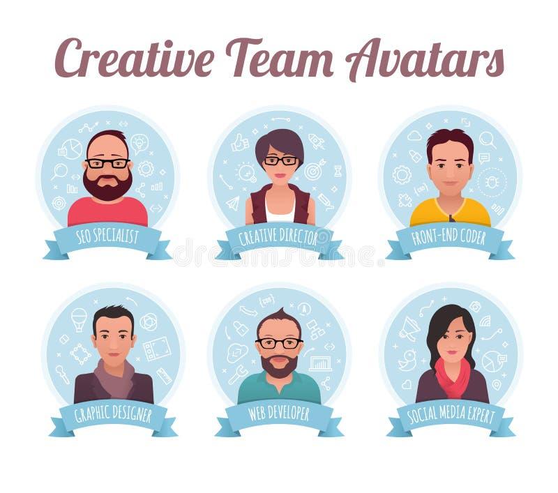 Marketing Team Avatars lizenzfreie abbildung