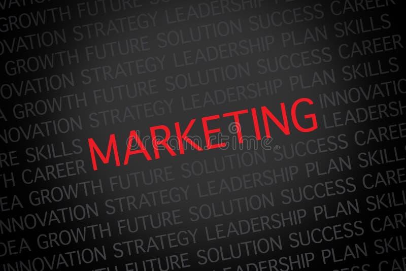 Marketing royalty free illustration