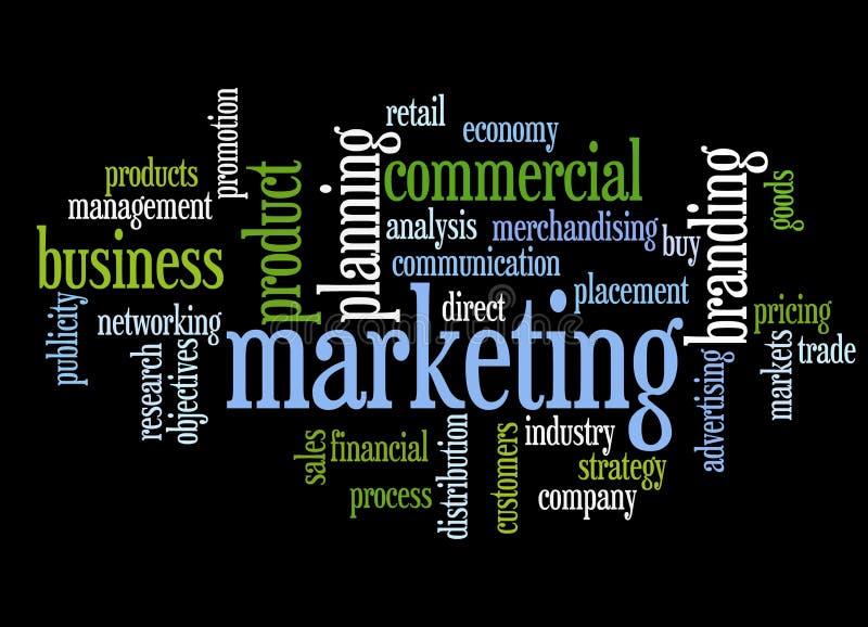 Marketing topics royalty free illustration