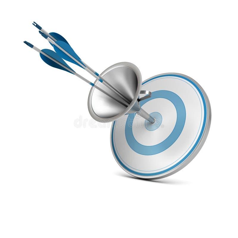 Marketing-Trichter, ziehen Verbraucher-Konzept an vektor abbildung
