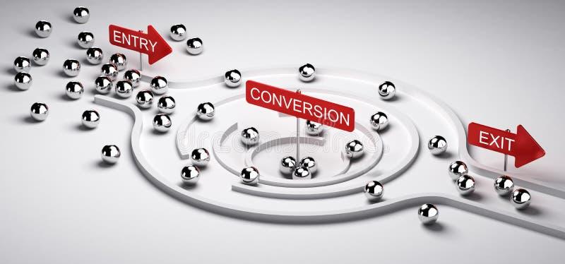 Marketing-Umwandlungs-Trichter vektor abbildung