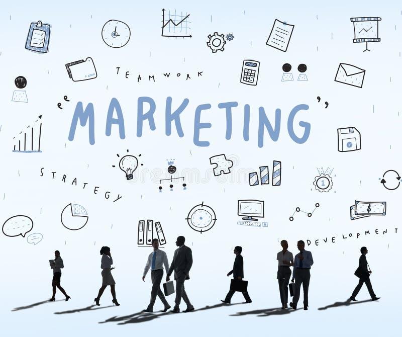 Marketing van de Commerciële het Concept Bedrijfsvooruitgang royalty-vrije stock foto's