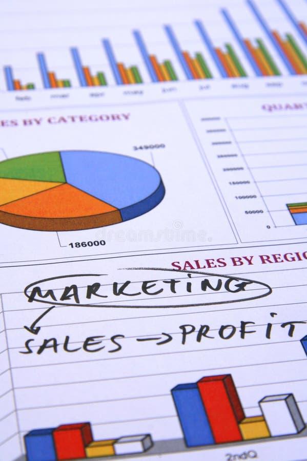 Marketing, Verkäufe und Profit lizenzfreie stockfotografie
