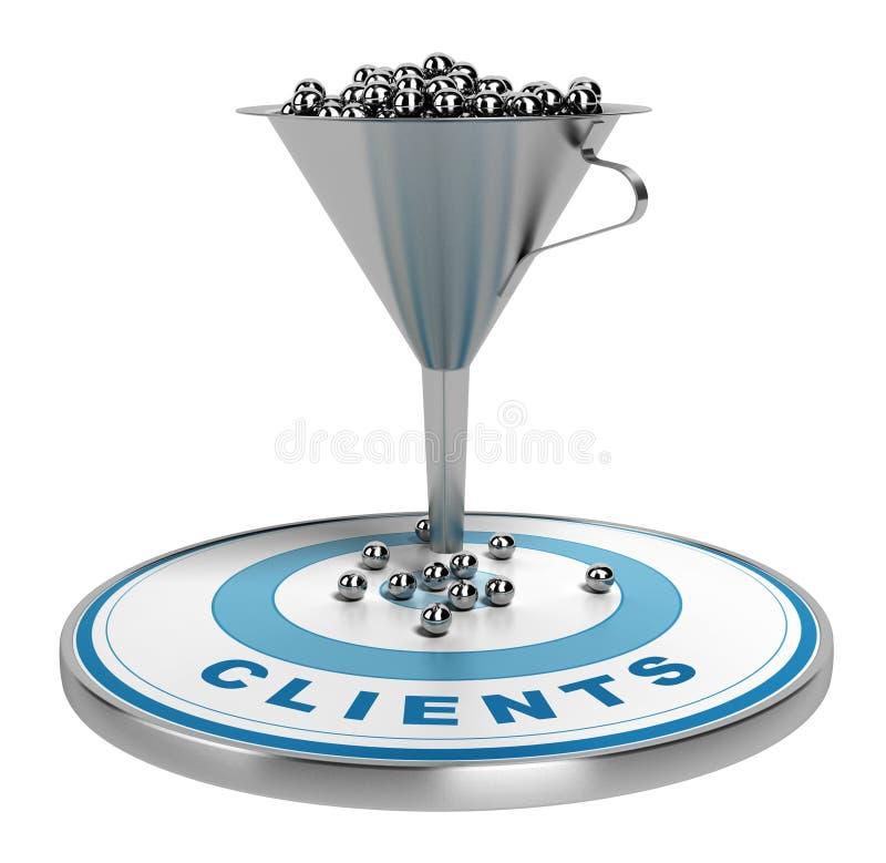 Marketing-Verkaufs-oder Umwandlungs-Trichter lizenzfreie abbildung