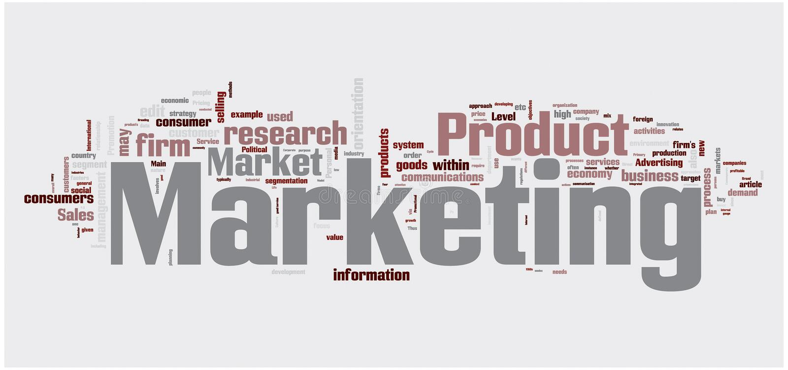 Marketing word cloud stock illustration