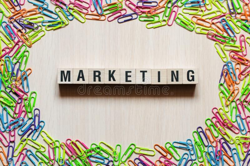 Marketing word concept royalty free stock photo