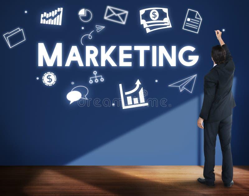 Marketing Zaken die Commercieel het Brandmerken Concept adverteren royalty-vrije stock fotografie