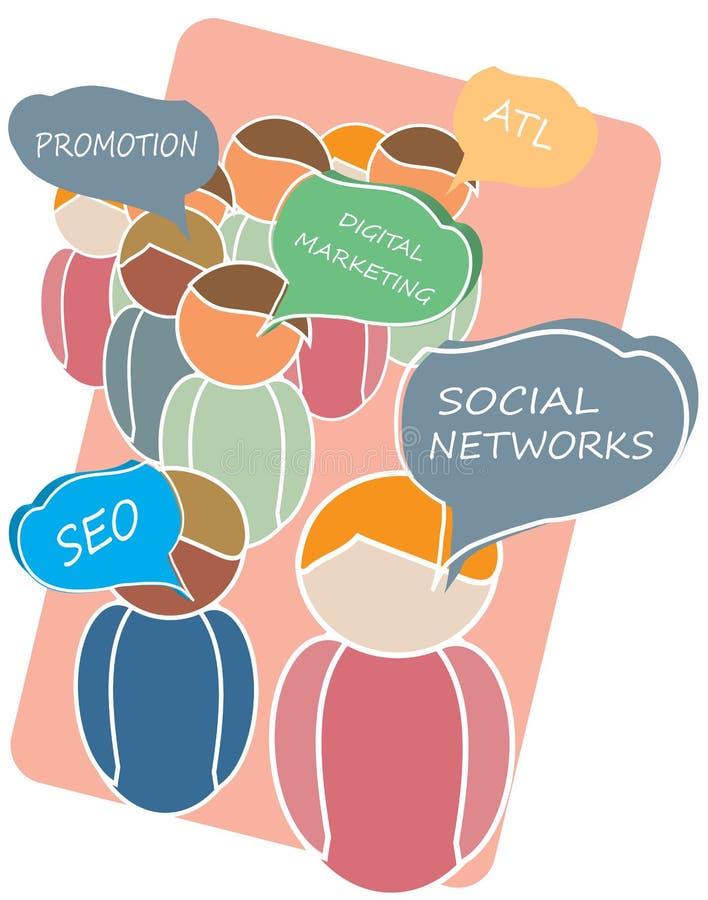 Download Marketingowa drużyna ilustracja wektor. Ilustracja złożonej z wyznaczający - 28952131