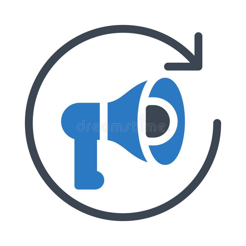 Marketingowa glifu colour wektoru ikona ilustracja wektor