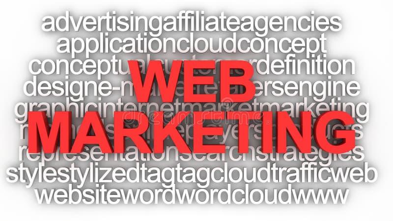 marketingowa pojęcie sieć royalty ilustracja