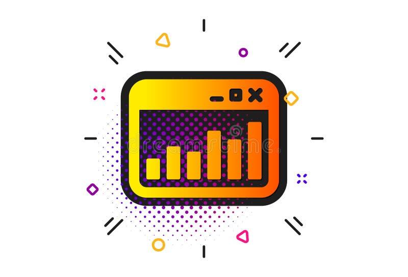 Marketingowa statystyki ikona Sieci analityka symbol wektor ilustracji