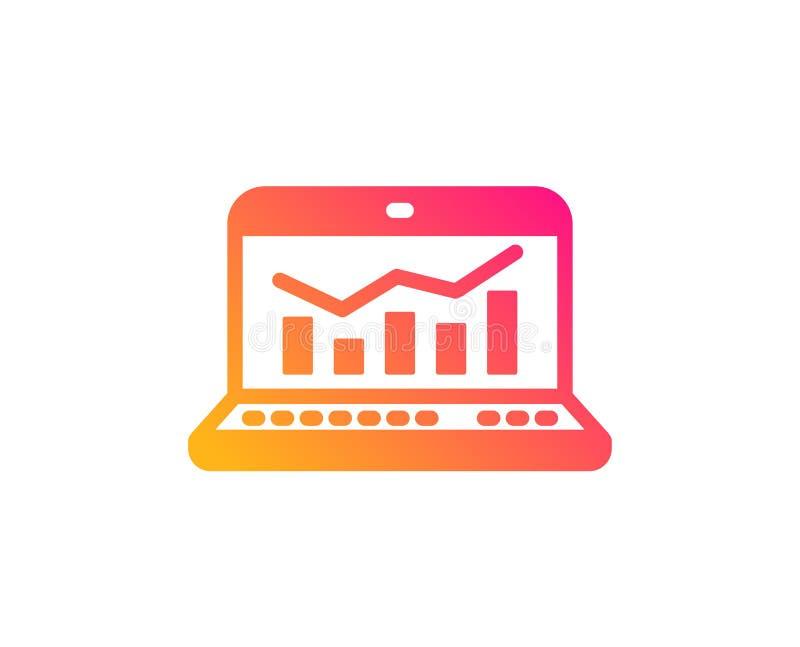 Marketingowa statystyki ikona Sieci analityka symbol wektor ilustracja wektor