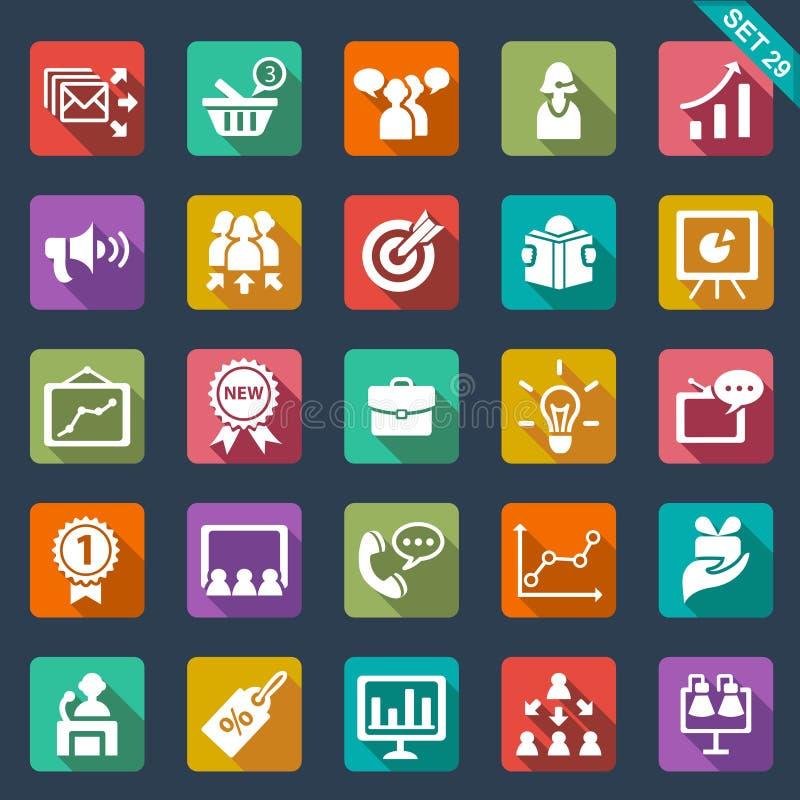 Marketingowe ikony ilustracji