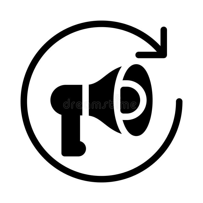 Marketingowego glifu p?aska wektorowa ikona ilustracja wektor