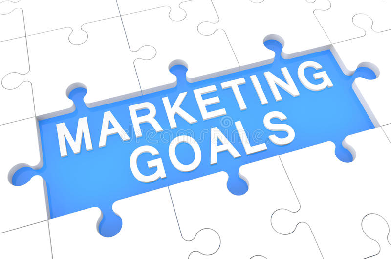 Marketingowi cele ilustracja wektor