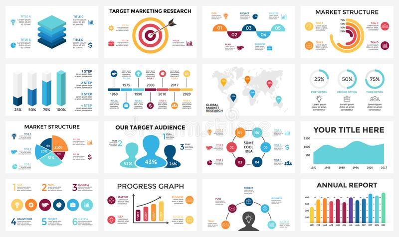 Marketingowy infographic, cyklu diagram, globalny biznesowy wykres ilustracja wektor