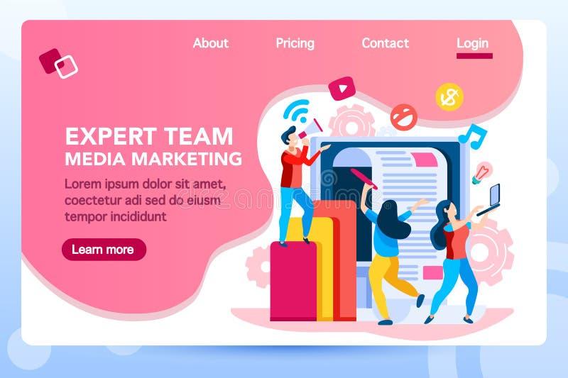 Marketingowy lądowanie strony zarządzanie Konsultuje ilustracji