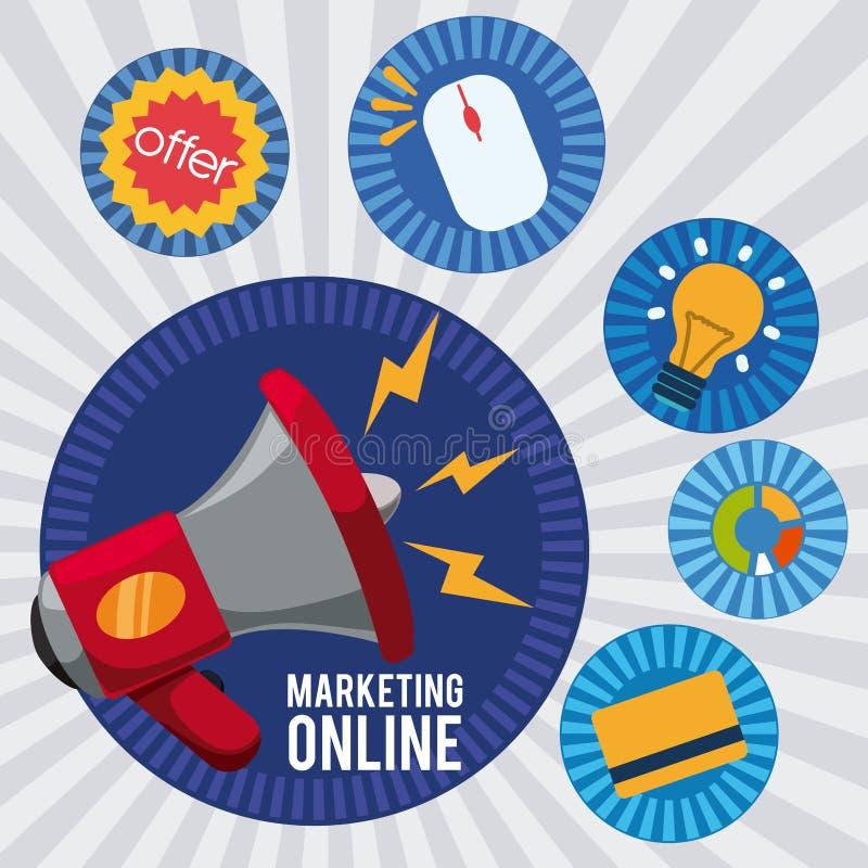 marketingowy online ilustracji