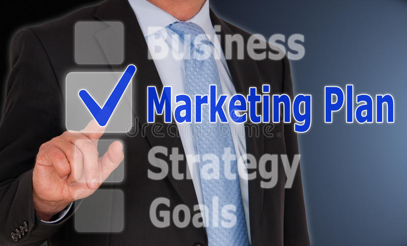 Marketingowy plan zdjęcie stock