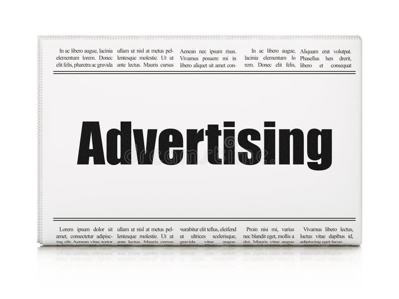 Marketingowy pojęcie: nagłówek prasowy reklama royalty ilustracja