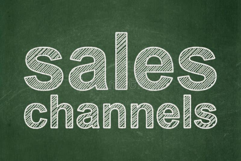 Marketingowy pojęcie: Sprzedaż kanały na chalkboard tle ilustracja wektor