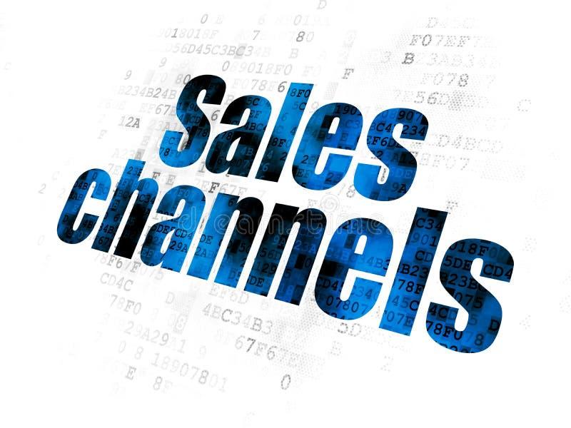 Marketingowy pojęcie: Sprzedaż kanały na Cyfrowego tle ilustracja wektor