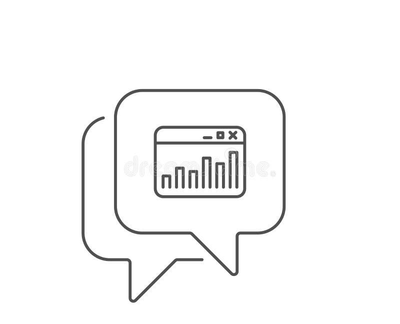 Marketingowych statystyk kreskowa ikona Sieci analityka symbol wektor ilustracji