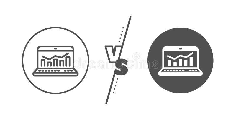 Marketingowych statystyk kreskowa ikona Sieci analityka symbol wektor royalty ilustracja