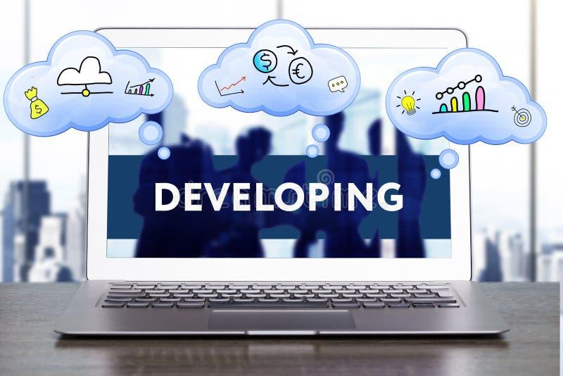Marketingstrategie Planungsstrategiekonzept Geschäft, technol lizenzfreie stockfotografie