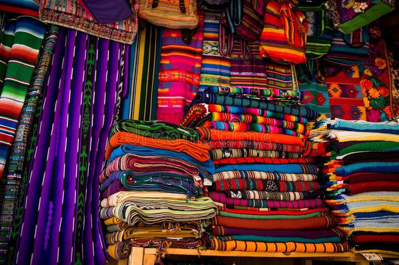 The Marketplace in Santa Fe, New Mexico. The Creative City of Santa Fe In New Mexico with its multitude of Galleries and Sculpture. Fabulous Santa Fe Colors stock image