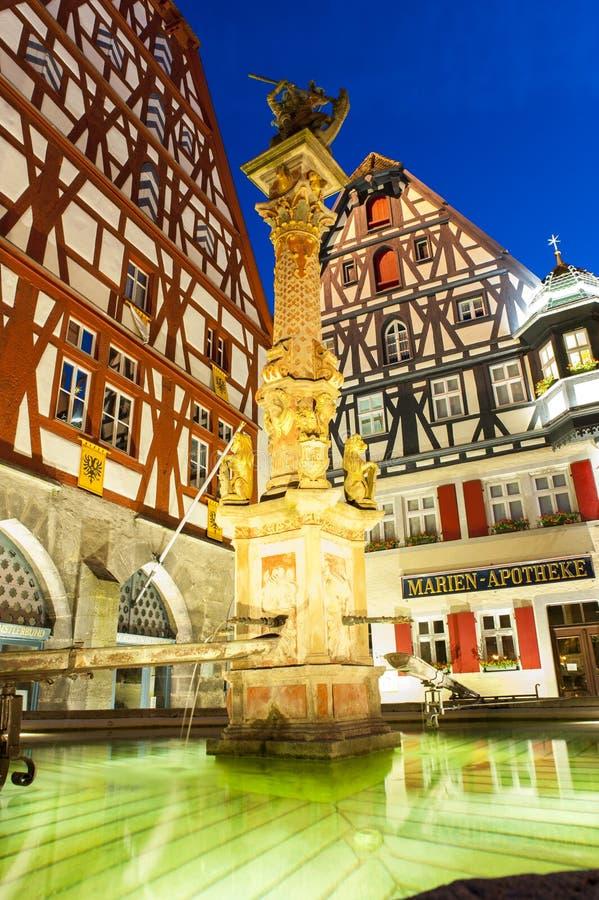 Marketplatz w Rothenburg ob dera Tauber fotografia royalty free