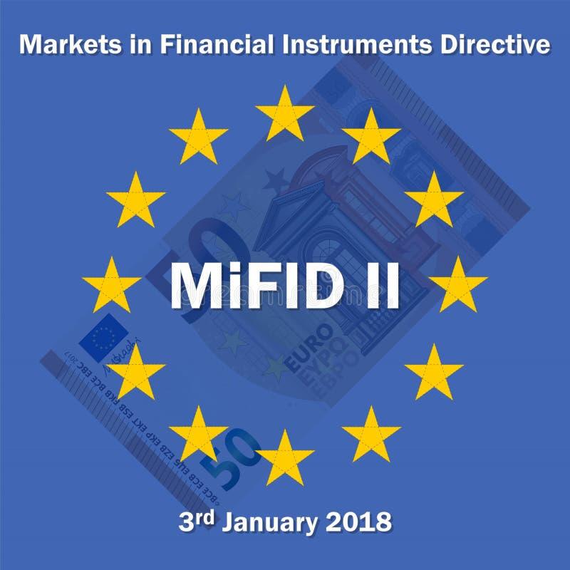 Markets in Financial Instruments Directive. Illustration of Markets in Financial Instruments Directive II vector illustration