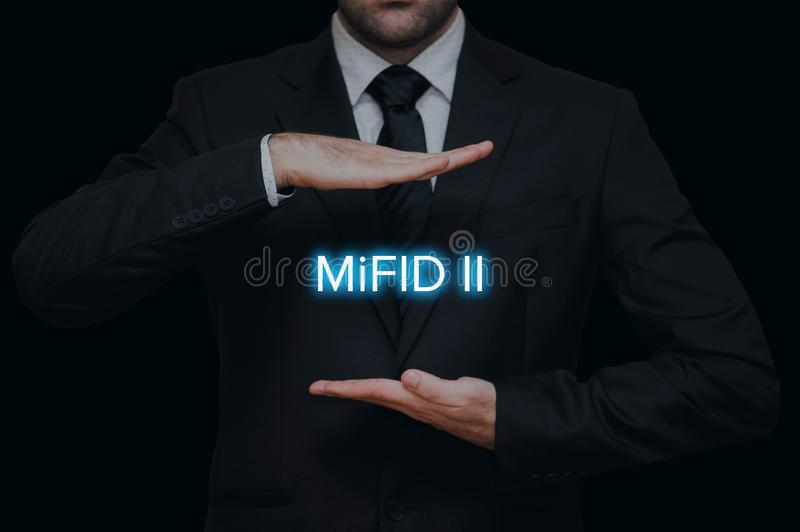 Markets in Financial Instruments Directive MiFID II stock images
