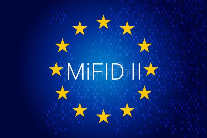 Markets in Financial Instruments Directive - MiFID II. Illustration vector illustration