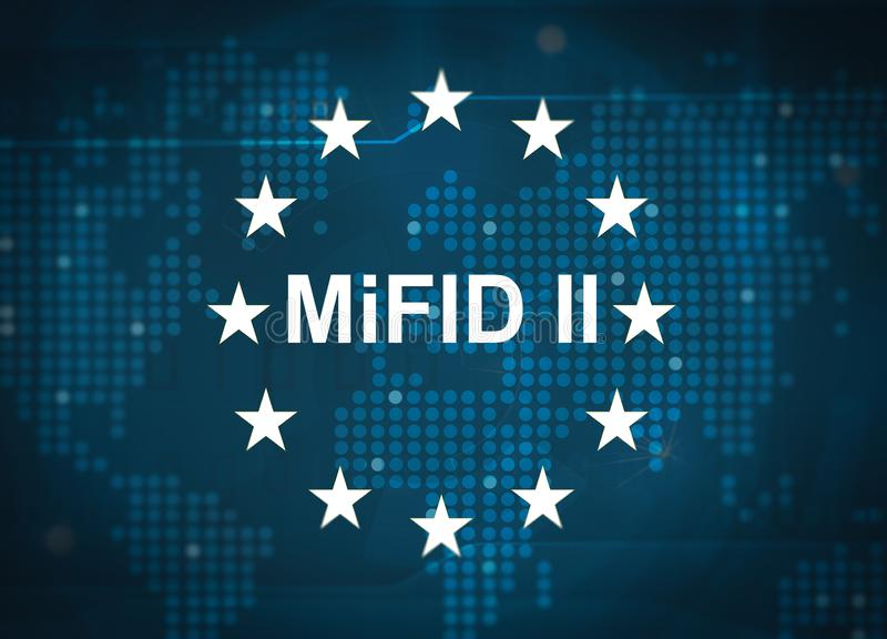 MiFID II Markets in Financial Instruments Directive stock images