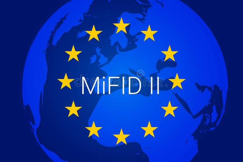 Markets in Financial Instruments Directive - MiFID II. vector. Illustration stock illustration