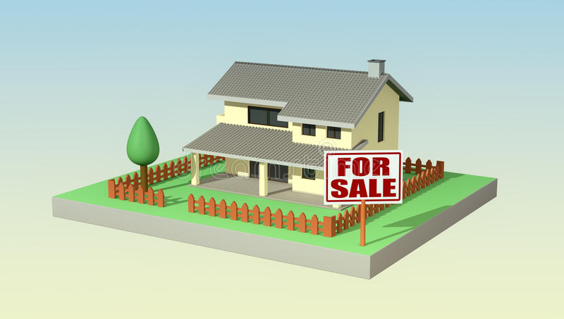 Markey ακίνητων περιουσιών, έννοια διανυσματική απεικόνιση