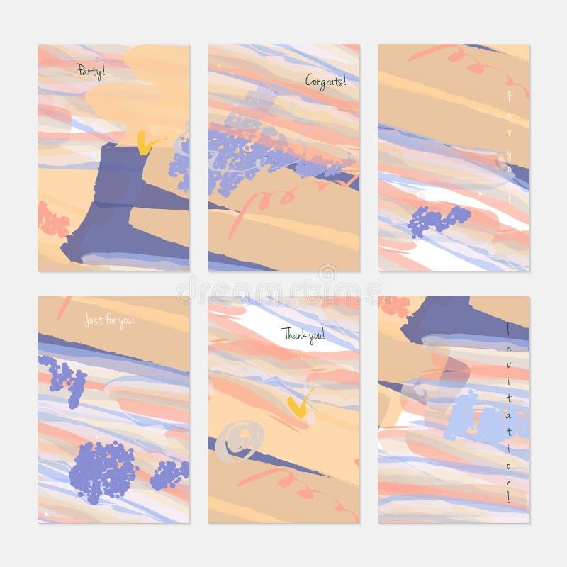 Markiera i kredki muśnięcie z akwarelą ilustracja wektor
